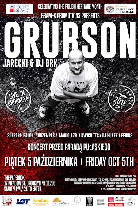 Grubson, Jarecki & Dj BRK zagrają przed Paradą Pulaskiego w Nowym Jorku.